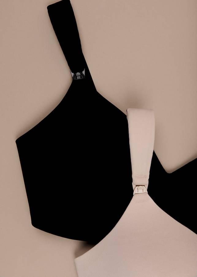 Black Imalac nursing bra, designed and developed by Apparelmark