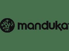 Manduka's logo, a client of Apparelmark